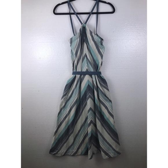 Lands' End Dresses & Skirts - Lands End Canvas Sz 6 Striped Halter Pockets Dress